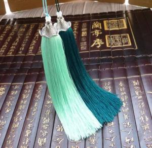China Top quality fashion custom chinese tassels trimming fringe for bookmark home decoration on sale