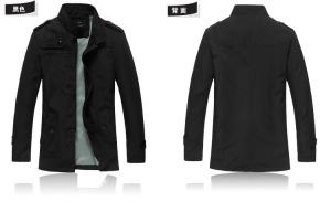 China Hot New men jacket collar cultivate one's morality fashion leisure men's upset warm coats on sale