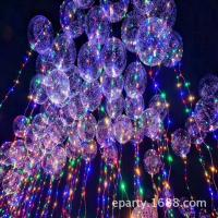 Transparent balloon LED lights, balloon Bling Bling Colorful light for birthday party decoration wedding layout