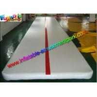 New White Inflatable Tumble Track , Gym Mat Inflatable Air Track For Sport Game