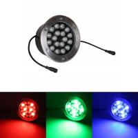Round Glass LED Underground Light , LED Underground Lamp Parks Decoration