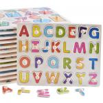 DIY Alphabet Letter Paper Jigsaw Puzzle , Custom Made Puzzles For Kids