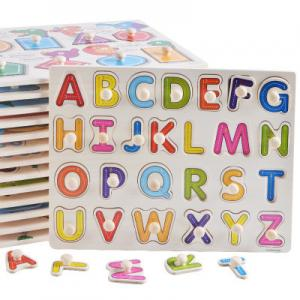 China DIY Alphabet Letter Paper Jigsaw Puzzle , Custom Made Puzzles For Kids on sale