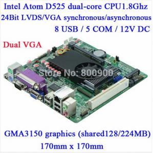 China Atom D525 motherboard with LVDS -ITX-M5S_D5L VER :1.6A,5*COM Atom Motherboard, Mini Itx mainboard on sale