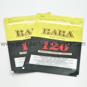 China Stand Up Ziplock Resealable 92mic Plastic Cigar Bags wholesale