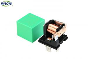 China Non Waterproof Green Cover 12V 30A Automotive Relay , 12 Volt 30 Amp Relay on sale