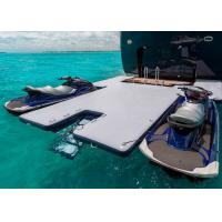 China Durable Inflatable Yacht Slides Mega Dock , Jet - Ski Drive - On Blow Up Swim Platform on sale
