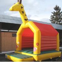 Commercial Jump Bouncy Castle Giraffe A Frame EN14960 0.55MM PVC