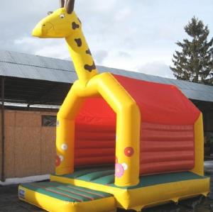 China Commercial Jump Bouncy Castle Giraffe A Frame EN14960 0.55MM PVC on sale