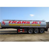 Stainless Steel Fuel Tanker Semi Trailer  Tri-Axle 33000L 33M3 Oil Transport Tank Semitrailer