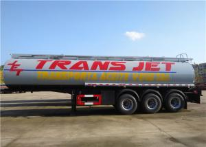 China Stainless Steel Fuel Tanker Semi Trailer  Tri-Axle 33000L 33M3 Oil Transport Tank Semitrailer on sale