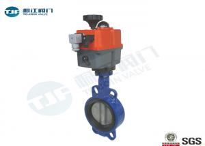 China 110V - 230V Electrically Operated Butterfly Valve Cast Steel Material Made on sale