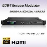 REM7004 Four-Channel HDMI TO ISDB-T/TB MPEG-2/H.264 Encoding Modulator Support HDCP