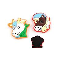 Promotional Gift Soft Fridge Magnets Cartoon Animal Shape Easy Carrying