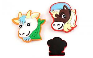 China Promotional Gift Soft Fridge Magnets Cartoon Animal Shape Easy Carrying on sale