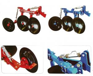 China 1LS series agriculture equipment disc plough with 2pcs discs used for 12-18hp walking tractor on sale