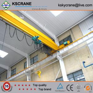 China Heavy Equipment Crane 10ton Hoist Single Beam Bridge Crane Manufacturer With Hoist on sale