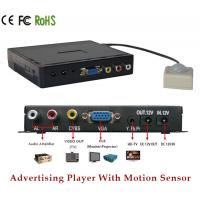 Battery Powered VGA YPbPr Advertising Video Display Box With Motion Detection