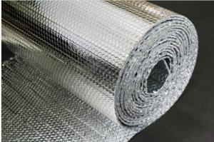 China Double Bubble Aluminium Foil Roll 24h Moisture Permability Silver Color on sale
