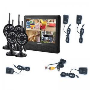 China 7 inch 4CH digital ip wireless security camera with DVR system and video on sale