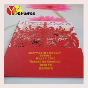 China Wedding supplies invitation cards for decoration laser cut pocket invitaton cards vintage lace design pocket style cards on sale