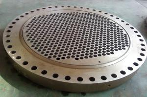 China acrylic plant / waste heat boiler SA266 Cl2 Forged Forging tube sheet Tubesheets baffles on sale