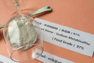 China Preservative Sodium Metabisulfite Wine Making White / Light Yellow Crystalline Powder on sale