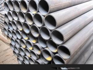 China Hot Rolled Round Hollow Steel Pipe 25 mm Thickness Black And Color Painting Surface on sale