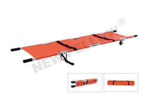 China Double - folded Wheeled Pole Emergency Folding Stretcher In Ambulance on sale