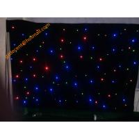 Wedding Event Party Decoration Fire Retardant Velvet Fabric AC220V LED Star Cloth