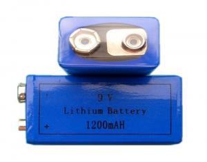 China 1200mAh Capacity Lithium MNO2 Battery , Primary Li MnO2 AA Manganese Batteries CR9V on sale
