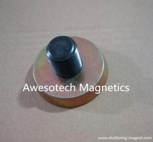 China Round Magnets, M16, M20, M24,30,36 threaded Bushing Magnet, Magnetic Fixing Plate on sale