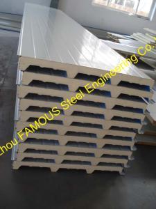 China 50mm PU Sandwich Wall Panels Thermal Insulation Prefab House on sale