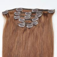 Factory Price Brown Hair Color Silky Striaght Clips in Hair Extension in stock