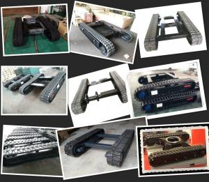 China rubber track undercarriage manufacturer rubber track system rubber crawler chassis on sale