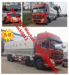 Factory customized dongfeng 8*4 LHD Euro 3 315hp diesel 40m3 poultry feed transported vehicle for sale, bulk feed truck