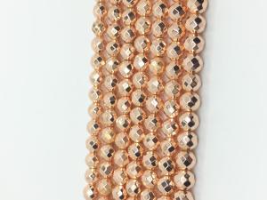 China La puissance élevée hématite naturelle magnétique de 16 pouces perle la catégorie de l'or D.C.A. de Rose on sale
