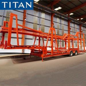 China 7 Car Carrier Trailer Double Deck Car Transport Trailer for Sale on sale