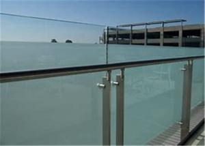 Commercial Frameless Glass Deck Railing Systems Stainless