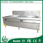 Commercial double burner induction cooker with sink
