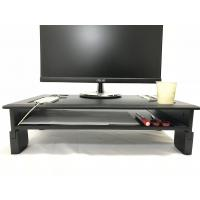 China PVC Laminated Computer Monitor Stand Adjustable Heights With Storage Shelf on sale