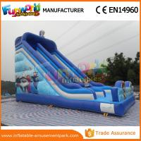 PVC Frozen Commercial Inflatable Slide Dry Inflatable Stairs Slide Toys For Kids