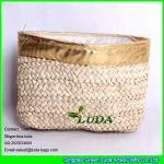 China LUDA new design elegant women corn hust straw clutch bag fashion handbag wholesale