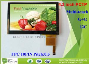 China 4.3 Inch I2C Multi Touch Industrial Touch Panel , Projected Capacitive Touch Screen on sale
