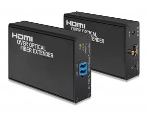 China HDMI over Optical Fiber Extender Supports IR back channel over optical link on sale