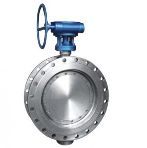 China Class 150 Stainless Steel Eccentric Butterfly Valve , Flanged Triple Offset Butterfly Valve on sale