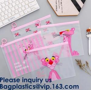 China Transparent Clear Slider Zipper Bag Ziplock Bag For Stationery,Matte Slider Zipper Top Soft Touch PE Polybags Bag on sale