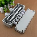 ИП65 делают распределительную коробку водостойким 80*250*70мм кабеля набор 6 блоков рельса Дин путей УК2.5Б терминальных