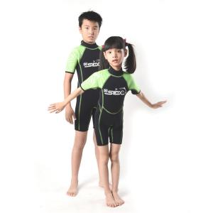 China Best kids children 2 3mm wetsuit back zipper boy and girl swim suit surfing suit on sale