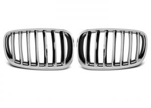 China Front BMW Kidney Grille Black Chrome Abs For E70 X5 Series E71 X6 Series on sale